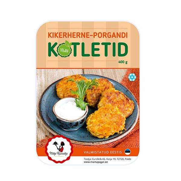 Kikerherne-porgandi kotletid