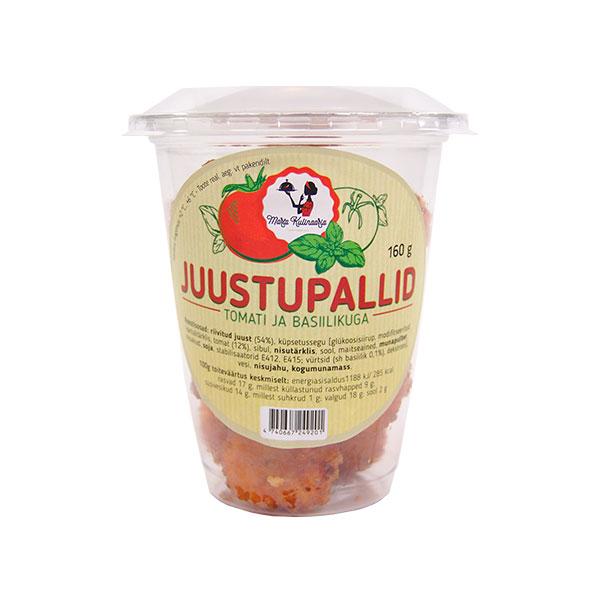 Juustupallid tomati ja basiilikuga