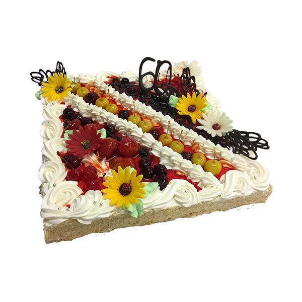 Puuvilja-kohupiima tort